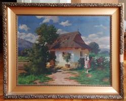 Szontágh Tibor (1873-1930) szignózott festmény (80x60)