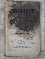 Emlékirat alkotmányos jegyzőkönyvbe, 1861-ből