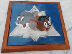 Tom and Jerry tűzzománc gyerekszobába