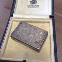 Antik 13 lattos ezüst gyógyszeres doboz