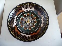 Nagy kerámia fali tányér