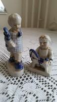 Porcelán figurális szobor 2 db eladó!2 db kis nipp eladó!