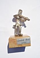 Zadok Arts Israel, ezüst szobor márvány talpon.