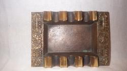 Zsűrizett iparművész bronz hamutartó