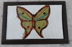 Pillangó / lepke  - tűzzománc kép