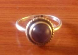 Ezüst gyűrű ametiszt kővel (hibás)