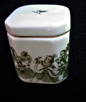Porcelán teafű tartó doboz