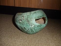 Érdekes, szabálytalan alakú retro kerámia kaspó