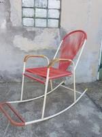 Bútor AKCIÓ kell a hely!!!  50% Extra menő retro vasvázas hintaszék szakadásmentes gumival