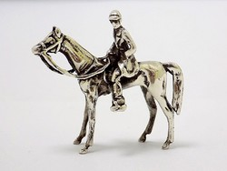 Ezüst lovas katona miniatűr (ZAL-BI33258)