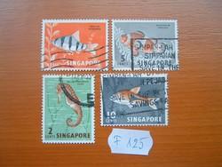 SZINGAPÚR SINGAPORE HALAK 1962 VEGYES 4 DB  F125