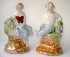 Antik német porcelán párocska