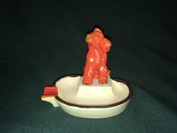 Német porcelán foxi kutyás hamutál