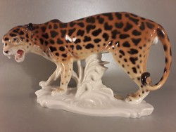 Karl Ens porcelán leopárd jelzett hibátlan