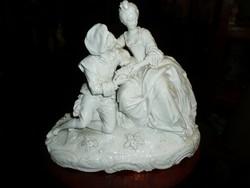 Álomszép nagy méretű, korai Altwien porcelán - barokk pár