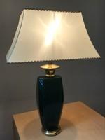 Kerámia asztali lámpa selyem ernyővel, 70 cm magas