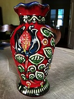 Mázas német népi váza 70 éves