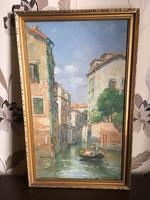 Halasi Horváth festmény Venezia