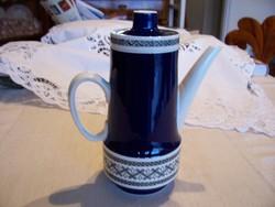 Villeroy&Boch Mettlach fajansz kávéskanna Saphir dekorral