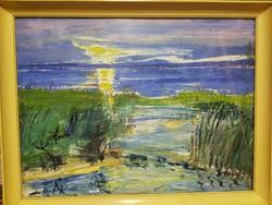 Sváby Lajos - Nádas festmény képcsarnokos