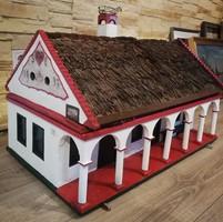 1937-es garantáltan egyedi antik paraszt házikó! Óriási méret 80x50cm az alapja, 50cm magas.