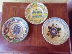 19.századi  ónmázas népi tányérok.Gyűjtőknek.