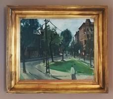 Id. Keleti Jenő Olajfestmény.75x65cm. Képcsarnokos festmény. Keleti jelzés.