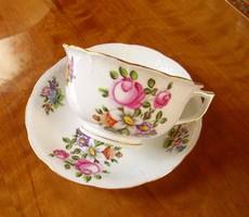 Herendi csésze, teáscsésze és alátét - Bécsi rózsás minta