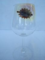 Egyedi, üvegpohár, 18 x 8 cm