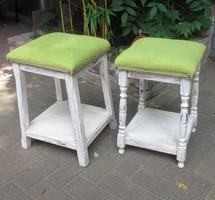Vintage szék, puff, ülőke 2 db - 16.000 Ft