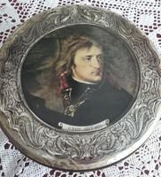 Vintage retro kekszes doboz Géricault, Gros és Van Dyck reprodukcióival.