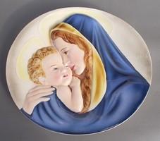 Keramos porcelán fali dísz Madonna és kis Jézus