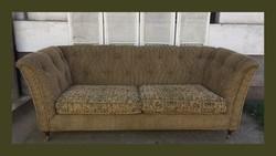 Hatalmas club kanapé,szófa,réz görgőkkel