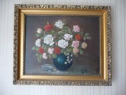 (festmény) Rózsás csendélet - Herold