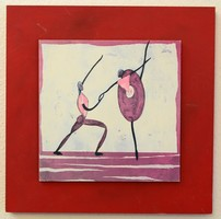 A tánc , absztrakt kép 45x45 cm