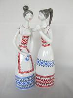 Hollóházi porcelán lányok