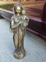 Szűz Mária kisdeddel csodálatos bronz szobor 62cm magas