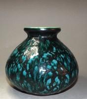 Tófej kerámia váza gyönyörű színekkel