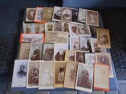 19.századi kemény táblás fotók 37db. Különböző fotográfustól.Jelzettek.