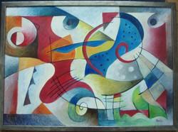 """Festmény """"Vízi világ"""""""