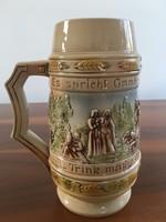 Hibátlan Sitzendorf porcelán söröskorsó