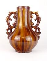 0P062 Veres Lajos Mezőtúr kerámia váza 30 cm