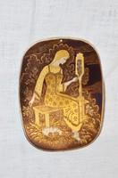 Orosz réz falikép 01  ( DBZ 00102 )