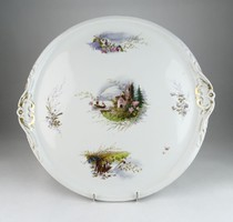 0Q971 Antik hatalmas porcelán tortatál 41 cm
