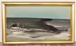 Bényi Árpád (1931-20106) Tájkép c. olaj festménye 67x40cm Eredeti Garanciával !!!