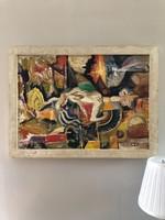 Ismeretlen festő/ Modern festmény 1950-70