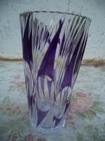 Különleges nagyon régi kristály váza  CSeH?