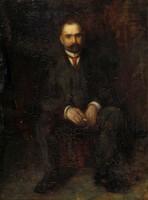 Magyar festő 1920 körül : Ülő férfi