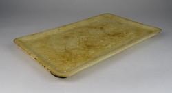0R620 Antik Riolit Hollóházi fajansz tálca 35.5 cm