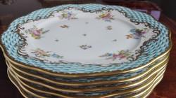 Herendi CBTA - CARREAUX BLEUS TURQUOISES ARMORIAUX süteményes tányérok